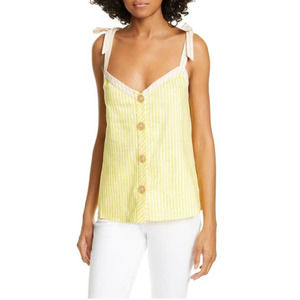 TED BAKER-  Asinara Stripe Button Front Camisole